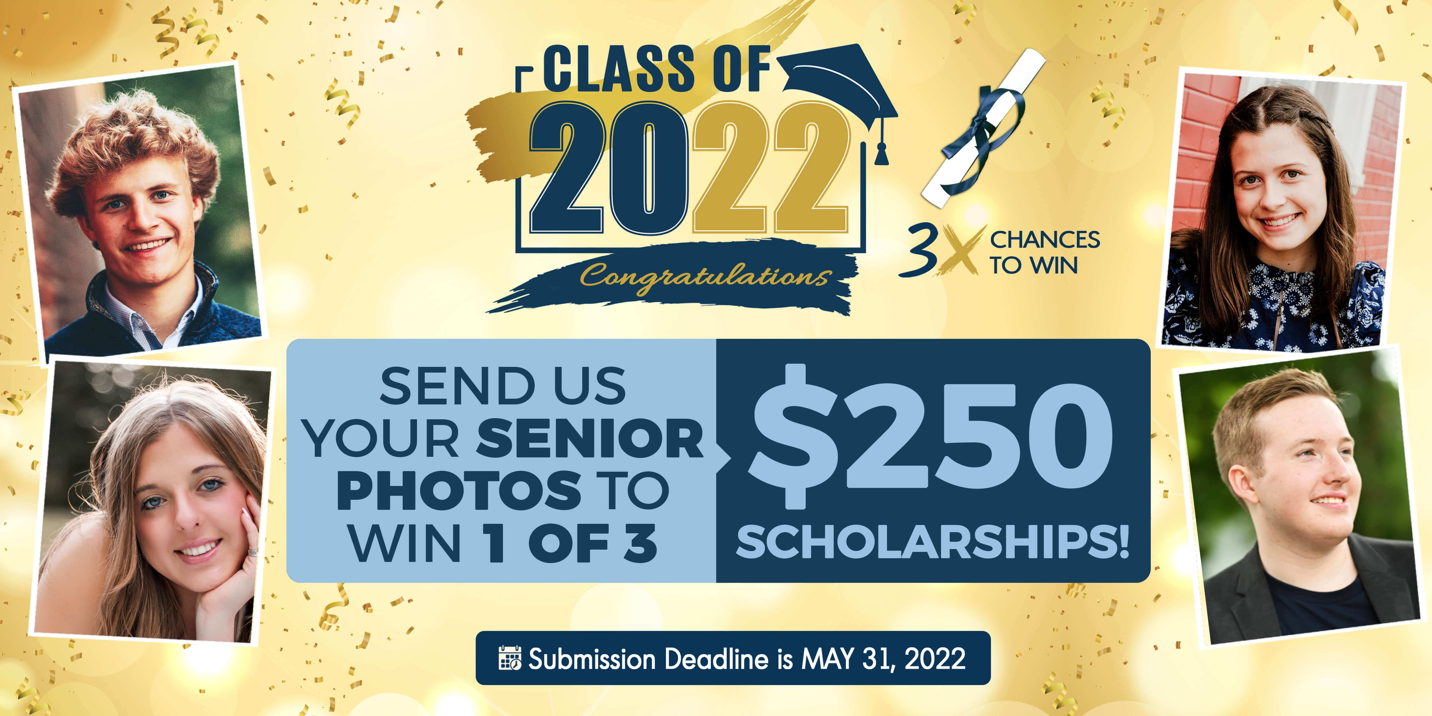 Submit your senior photo for a chance to win $250!